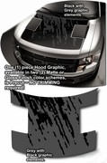 2010-2013 Ford F150 Raptor Hood Enhancement Graphics Kit 2
