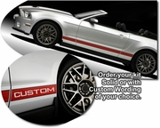 2010-2014 Ford Mustang Shelby GT500 SVT Performance Side Stripes Graphics Kit 1