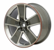 "2010-2014 Camaro 20"" Five Spoke Red Line Wheels - Gray with Machined Face"