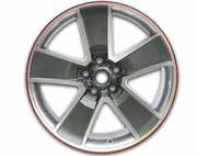 "2010-2014 Camaro 20"" Red-Line Wheels - Gray, Machined Face, Chrome Like Windows RW 10"""
