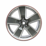 "2010-2014 Camaro 20"" Red-Line Wheels - Gray with Machined Face, Chrome-Like Windows"