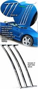 2010-2014 Chevrolet Camaro Quarter Panel Side Louver Decal Kit 1