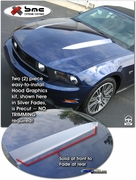 2010-Current Ford Mustang Hood Enhancement Graphic Kit 1