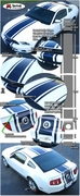 2010 Ford Mustang Rally Stripe Graphic Kit 5