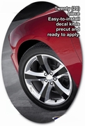 "2011-2014 Dodge Charger 20"" Wheel Graphics Decal Kit 1"