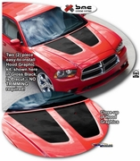 2011-2014 Dodge Charger Hood Graphics Kit 3