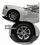 2011-2014 Dodge Charger 17in Wheel Graphics Decal Kit 2