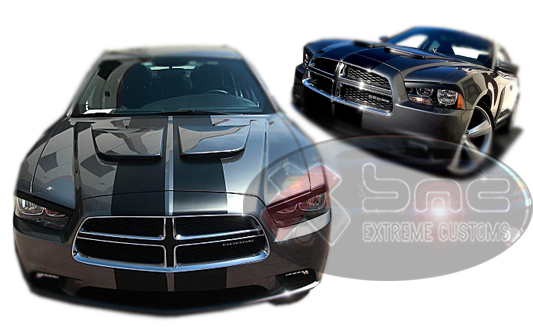 2011-2014 Dodge Charger GTS Dual Hood by Xenon