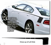 2011-2014 Dodge Charger Hockey Stick Style Body Side Graphics Kit 2