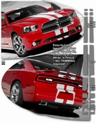 2011-2014 Dodge Charger Rally Stripes Graphics Kit 2