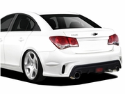 2011-2015 Chevrolet Cruze Duraflex GT Racing Rear Bumper Cover