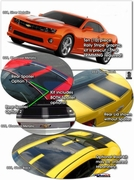 Chevrolet Camaro Factory Style Rally Stripes Graphics Kit 2010-2013