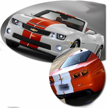 Chevrolet Camaro Indy Style Rally Stripes Graphics Kit 8 2010-2014