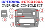 Chevrolet Camaro Optional Overhead Console Kit, 6 Pcs 2010-2015