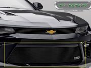 2016-2017 Chevrolet Camaro SS T-REX 25036B Billet Bumper Grille Overlay  Black Powder Coated Finish