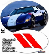 Chevrolet Corvette C4 Grand Sport Factory Style Precut Hash Mark Decal Kit 1984-1996