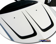 Dodge Charger Scallop Hood Accent Graphics Kit 2011-2014