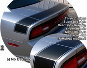 Dodge Charger Superbee Style Rear Body Graphics Kit 2011-2014
