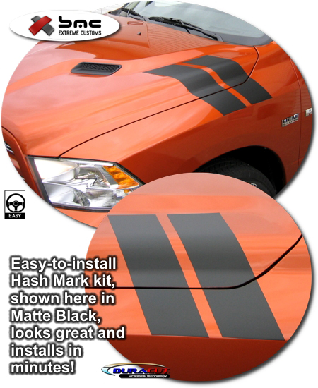 Dodge Ram Precut Hash Mark Kit For Sport Performance Hood