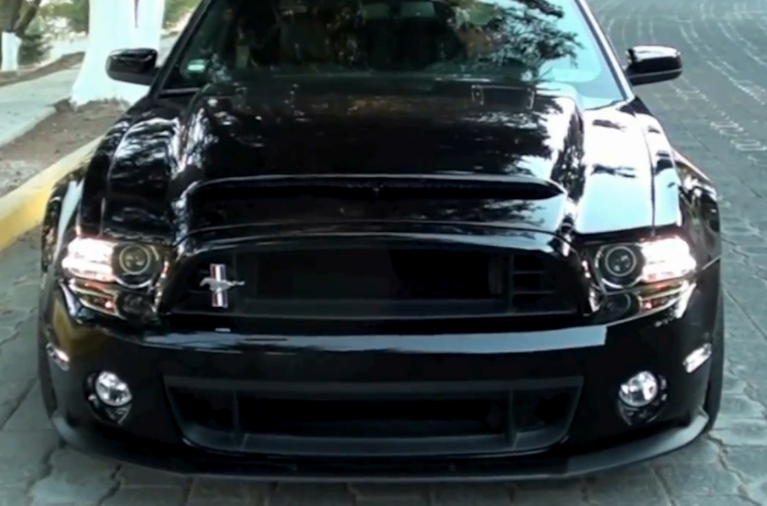 ford mustang full conversion kit 2013 gt500 style w black mamba hood 2013 2014 - 2014 Ford Mustang Gt Black
