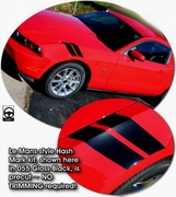 Ford Mustang Precut Le Mans Style Hash Mark Graphics Kit 2005-2014