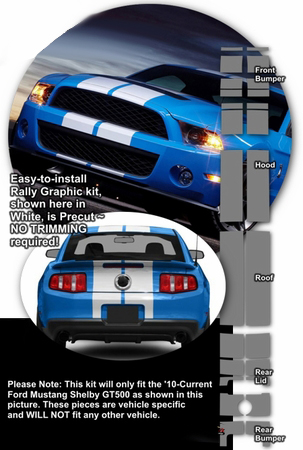 Charcoal black car gloss charcoal gloss black - Ford Mustang Shelby Gt500 Rally Stripe Graphics Kit 2010