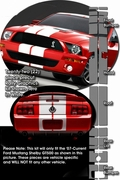 Ford Mustang Shelby GT500 Rally Stripes Graphic Kit 2007-2009