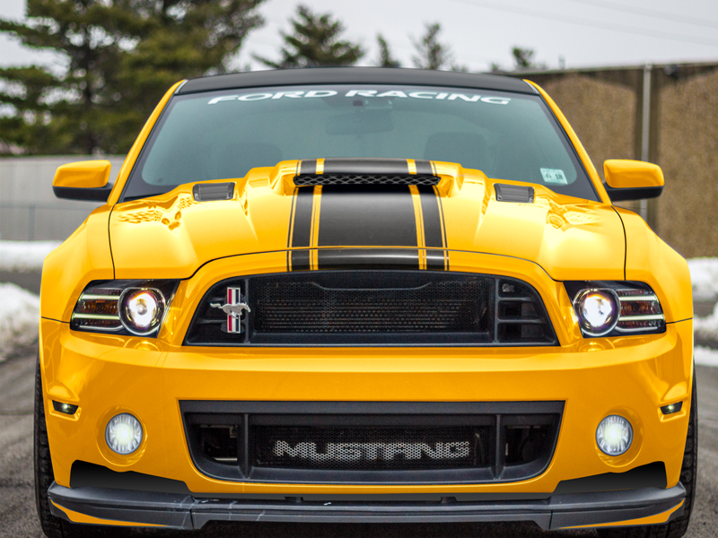 Ford Mustang Supercharger Mongoose Hood Gt V6 2013 2014