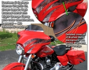 Harley-Davidson Street Glide Touring Bike Flame Graphics Kit 3