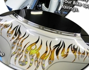 Harley-Davidson Touring Bike Fairing Flame Graphics Kit 1