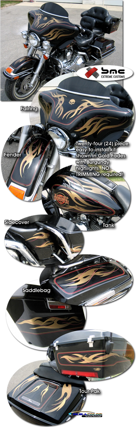 Harley-Davidson Tribal Flames & Pins Electra-Glide Graphics Kit 1