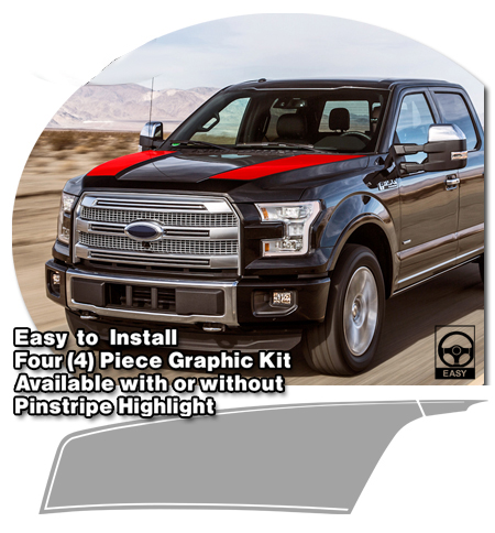 Hood Stripe Kit 1 for 2015 Ford F-150