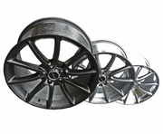 "Staggered 20"" Black Mamba Mustang Wheels 2005-2014, Set of 4"