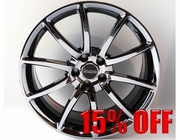 """Staggered 20"""" Black Chrome Mamba Mustang Wheels 2005-2014, Set of 4"""