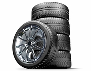 """Staggered 20"""" Black Mamba Mustang Wheels + Tires Package 2005-2014, Set of 4"""