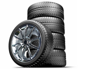 "Staggered 20"" Black Mamba Mustang Wheels + Tires Package 2005-2016, Set of 4"