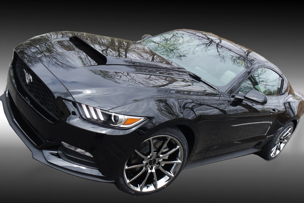 """2015 Mustang Stock Wheels >> Staggered 20"""" Black Mamba Mustang Wheels + Tires Package"""
