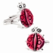 Pink Enamel Lady Bug Cufflinks