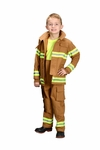 Kids Firefighter Costume COLOR TAN Real Life Like Fabric