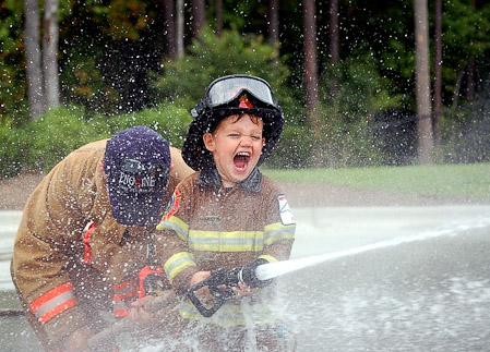 Kids Firefighter Halloween Costume With Helmet Fireman