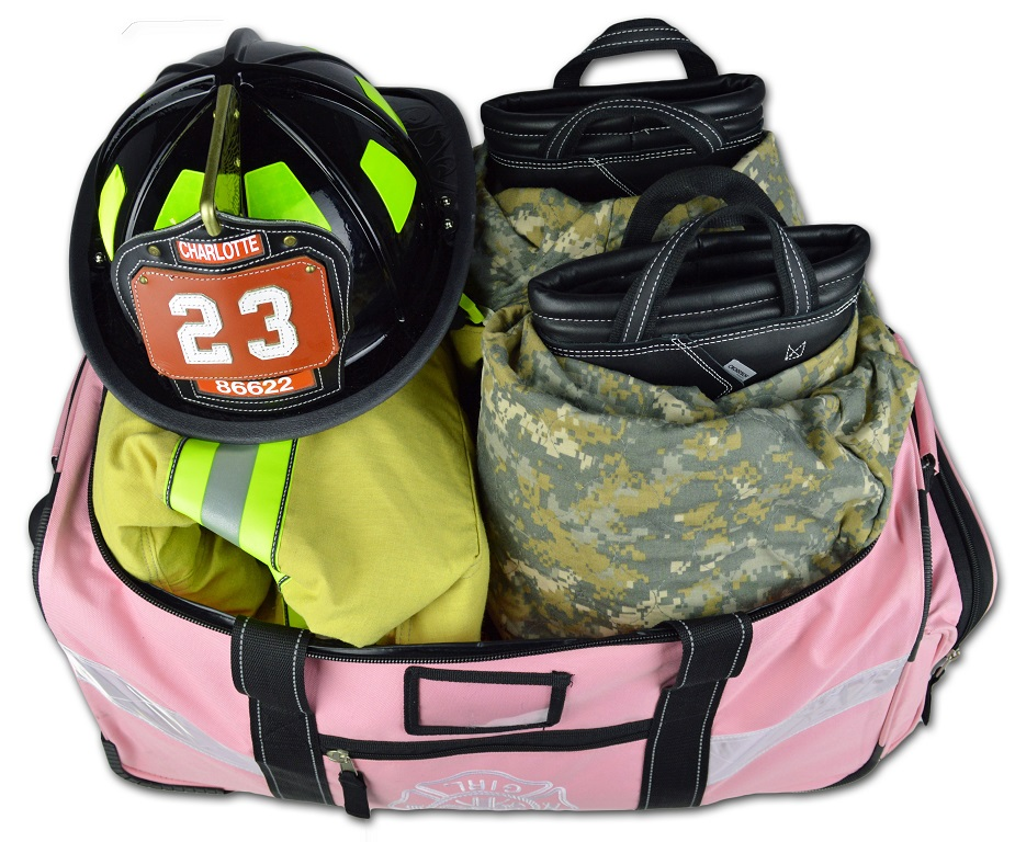 Lightning X LXFB65WD-P Premium Luggage Style Turnout Gear Bag - PINK