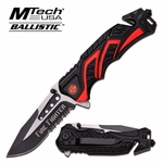 Mtech USA MT-A865FD Spring Assisted Firefighter Knife