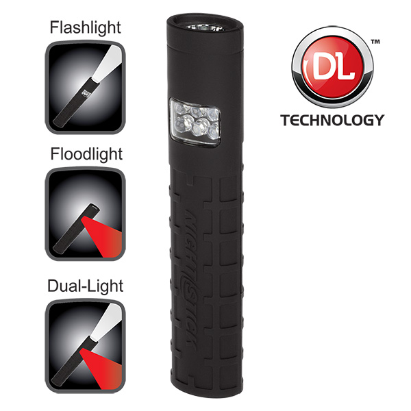 Nightstick NSP-1402B Dual-Switch Dual-Light Flashlight - Non-Rechargeable BLACK