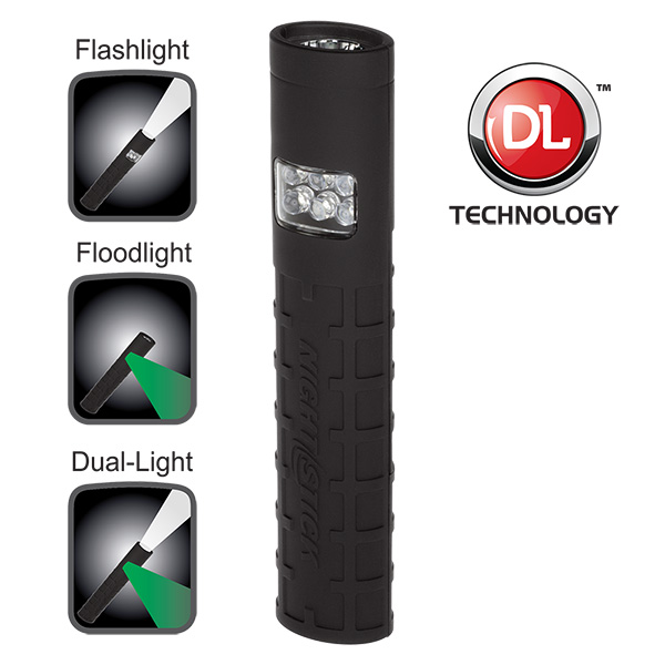 Nightstick NSP-1404B Dual-Switch Dual-Light Flashlight - Non-Rechargeable BLACK