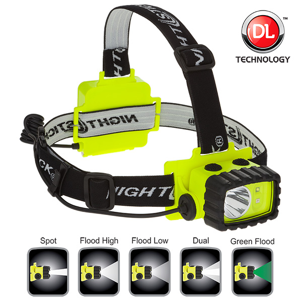 Nightstick XPP-5458G Intrinsically Safe Permissible Multi-Function Dual-Light Headlamp