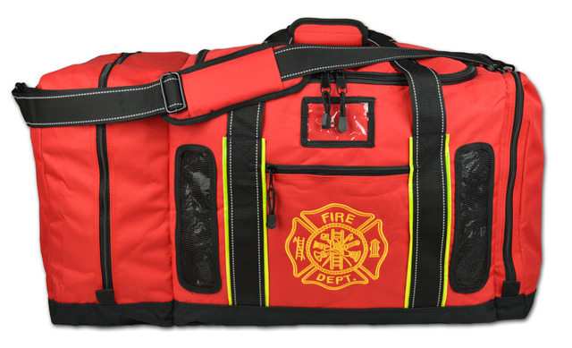 Red Vented Turnout Gear Bag