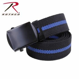 """Rothco 44"""" Thin Blue Line Web Belt (THIS ITEM IS ON BACKORDER UNTIL APRIL 2017)"""