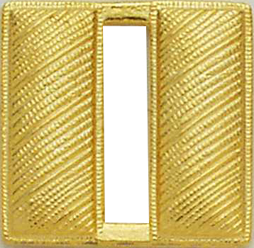 Smith And Warren Collar Brass Insignia -  CAPT/LARGE/CORRUGATED PAIR
