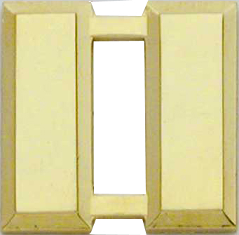 Smith And Warren Collar Brass Insignia -  CAPT/LARGE/SMOOTH PAIR