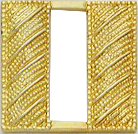 Smith And Warren Collar Brass Insignia -  CAPT/SMALL/CORRUGATED PAIR